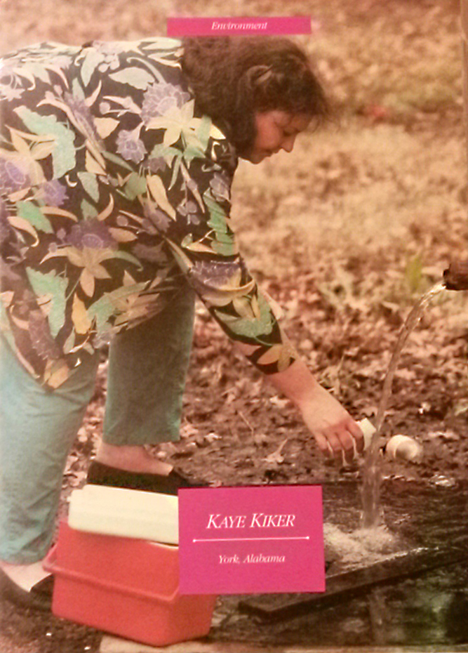 kaye kiker taking water samples 1990 2