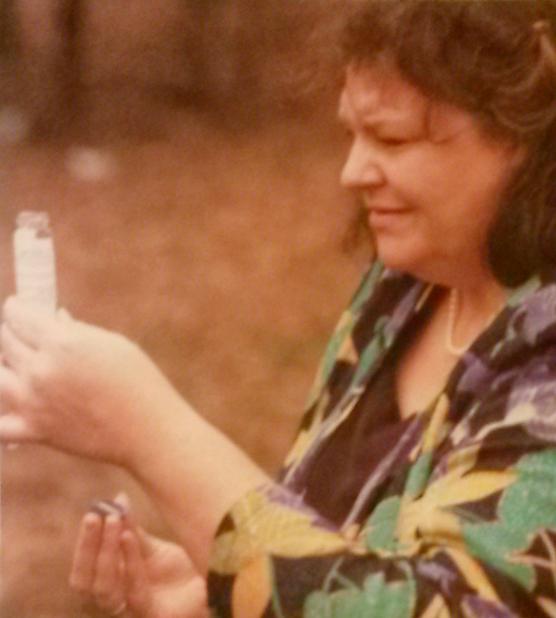 kaye kiker taking water samples 1990